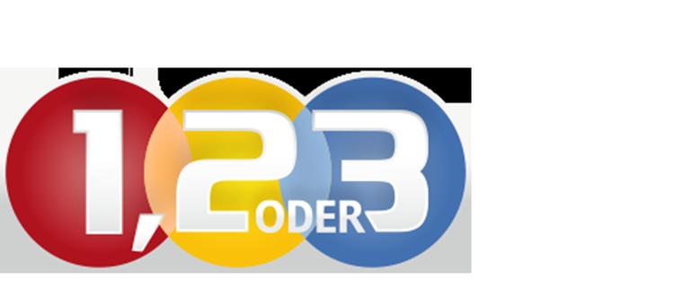 1, 2 oder 3 - Logo