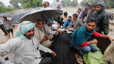 Monsunregen in Indien.