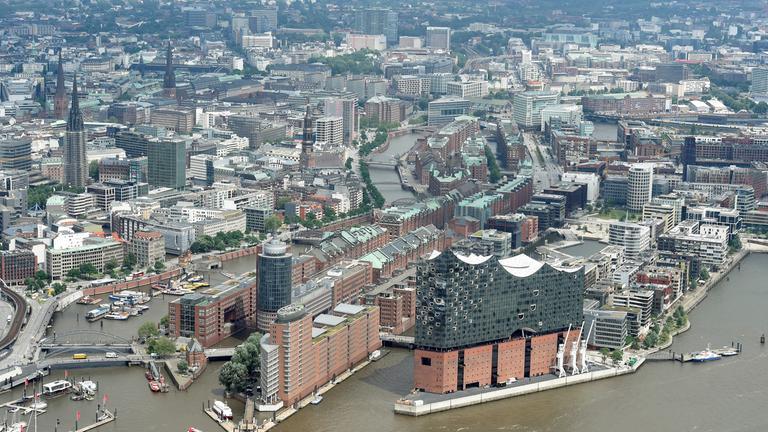 Blick auf die Sicherheitszonen in Hamburg