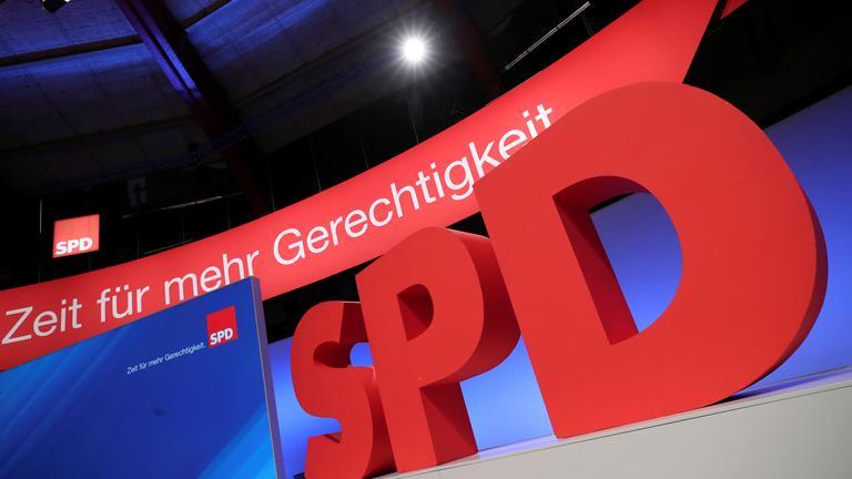 SPD-Logo mit Slogan zur Wahl