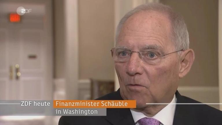 Wolfgang Schäuble über Exportüberschuss