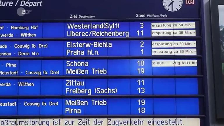 Störungen im Bahnverkehr