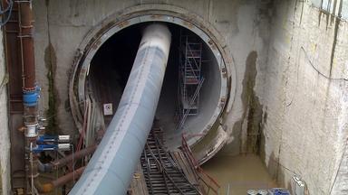 Bauarbeiten an Tunnel in der Nähe von Rastatt