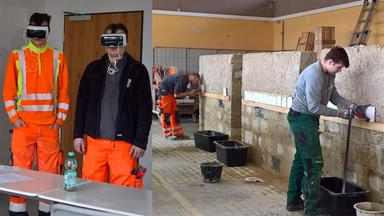 3D-360°-Training mit Virtual-Reality-Brille.