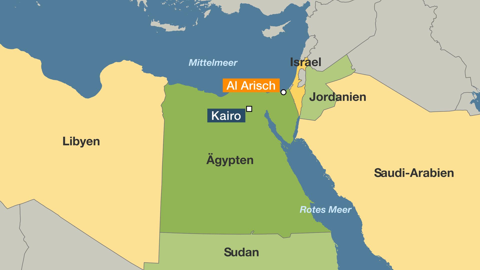Karte Von ägypten.Anschlag Auf Moschee In ägypten Mehr Als 200 Tote Zdfmediathek