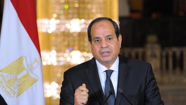 Präsident Abdel Fattah al-Sisi bei einer Rede nach dem Anschlag