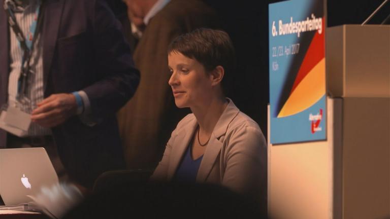 Frauke Petry beim AfD-Parteitag.
