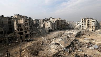 Trümmer in der syrischen Stadt Aleppo
