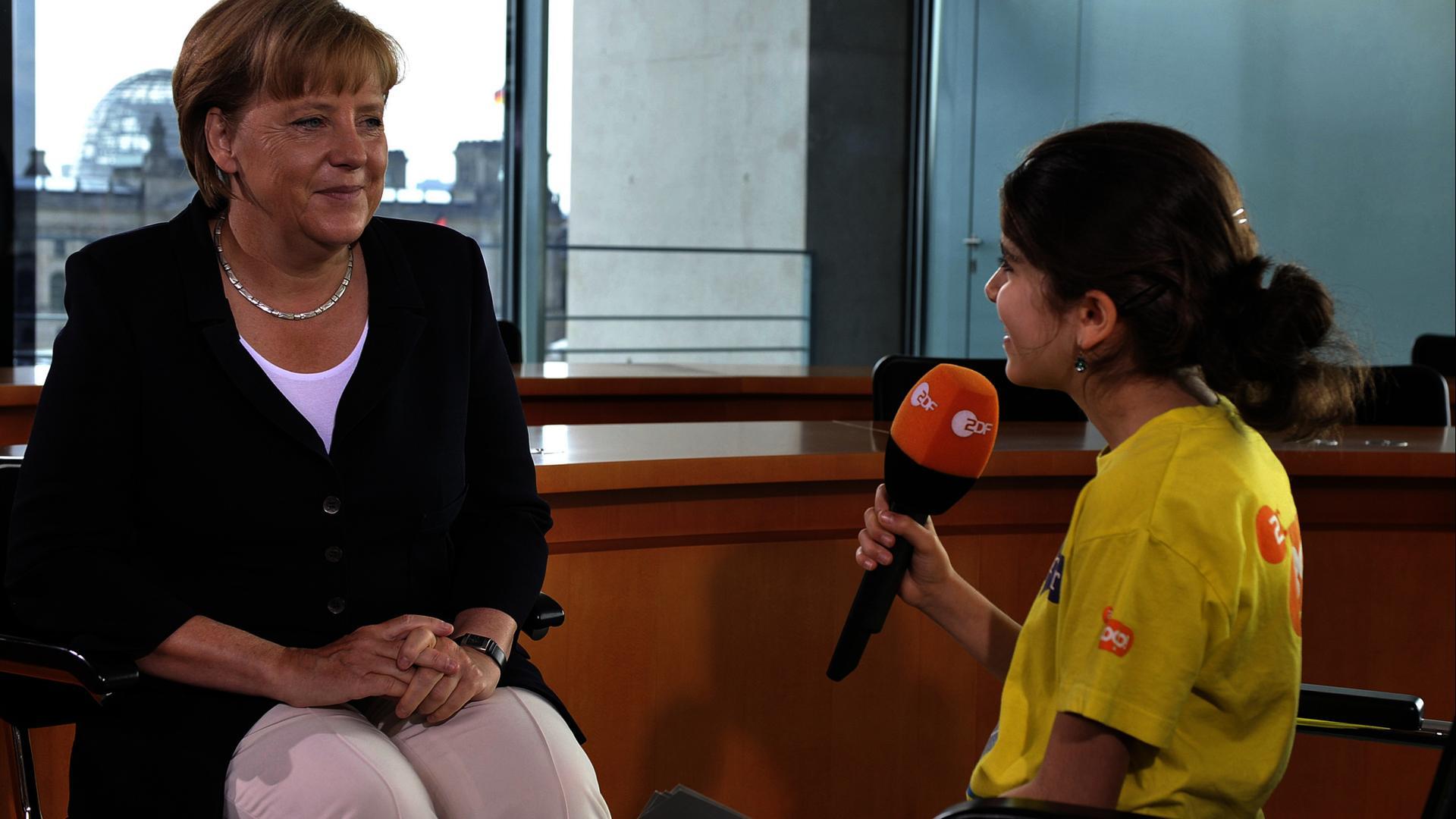 Logo Angela Merkel ZDFmediathek