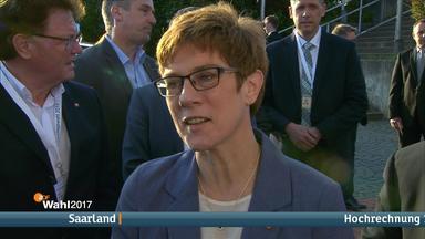 Die Spitzenkandidatin der Saar-CDU, Annegret Kramp-Karrenbauer.