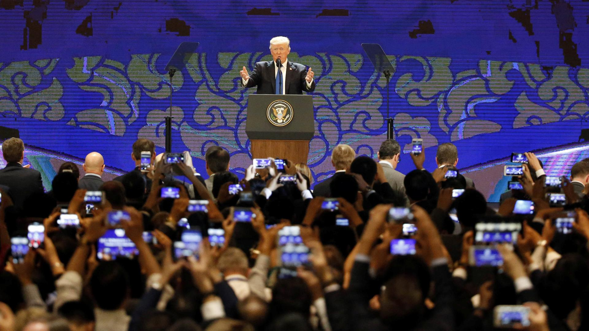 Donald Trump am 10.11.2017 in Da Nang (Vietnam)