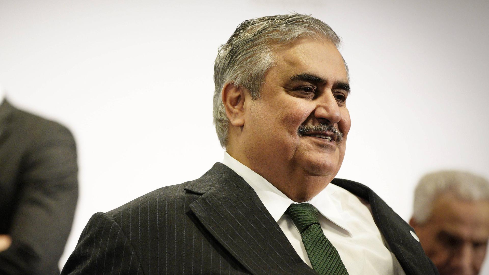 Bahrains Außenminister Chalid bin Ahmad Al Chalifa (Archivbild)