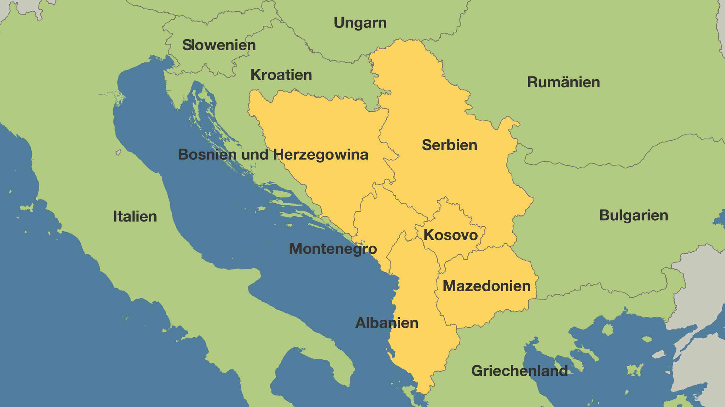 Jugoslawien Karte 2018.Eu Gipfel Soll Schwung Bringen Sechs Balkanstaaten Wollen In Die Eu