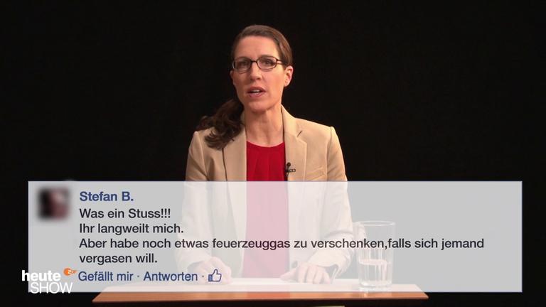 Birte Schneider liest ausgewählte Hasskommentare: Der Jahresrückblick 2016