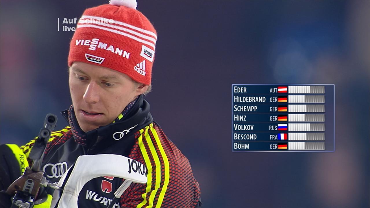 Daniel Böhm biathlon auf schalke wolkow gewinnt shootout böhm wird fünfter
