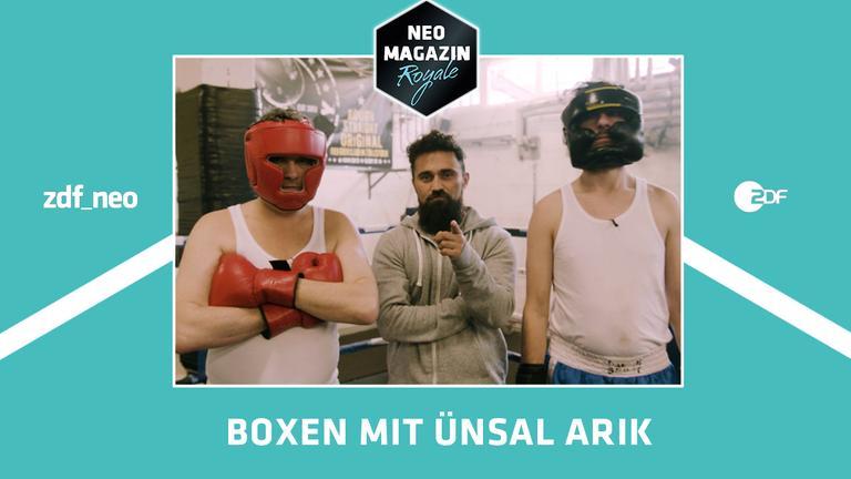 Ãœnsal Arik trainiert Jan und Ralf beim NEO MAGAZIN ROYALE Boxtraining