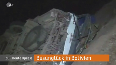 Busunglück in Bolivien