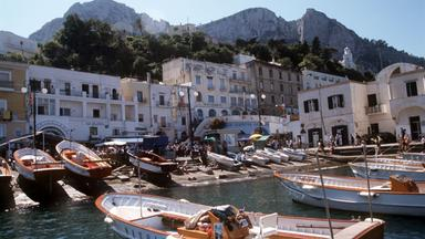Hafen auf der Insel Capri