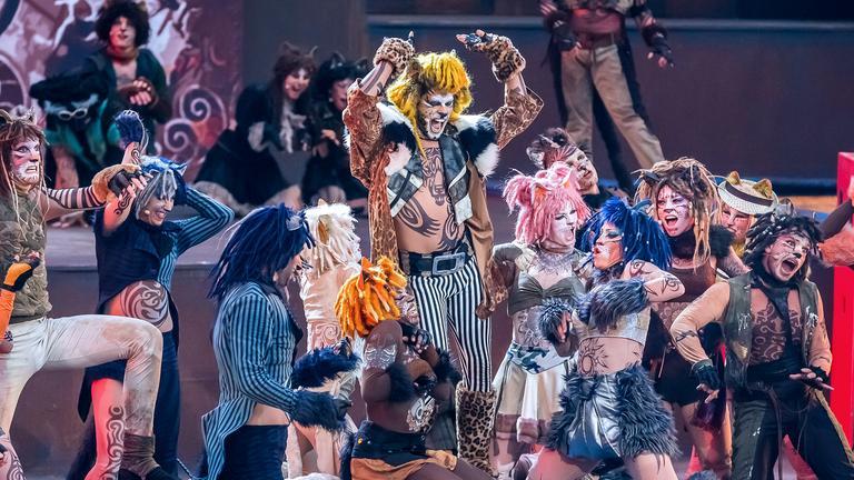 Archiv: Szene bei der Vorpremiere vom Musical Cats bei den Thunerseespielen in Thun, aufgenommen am 11.07.2017