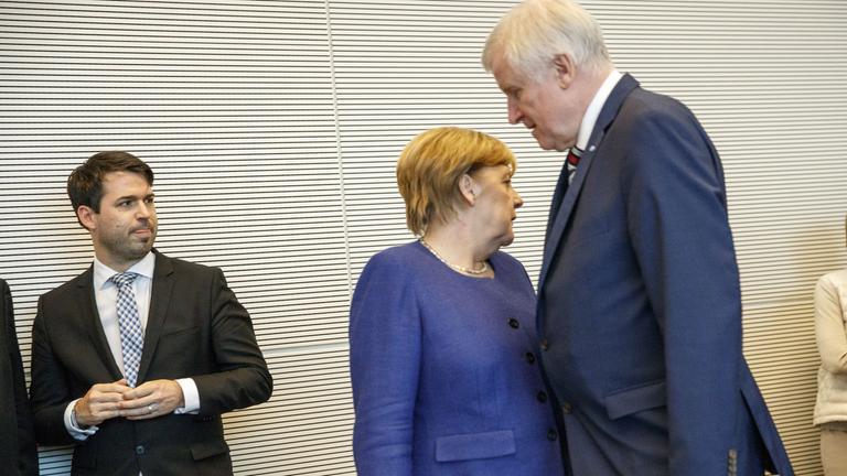cdu parlamentary group meeting, berlin, germany - 26 sep 2017