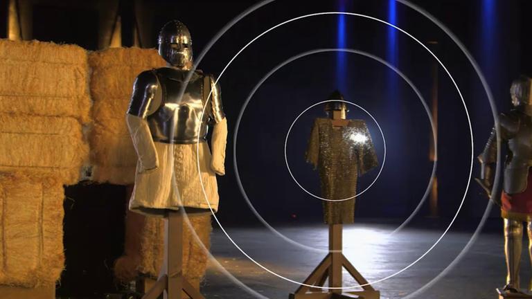 Das Hightech-Experiment: Boten Kettenhemden der Ritter Schutz bei Schwertkämpfen