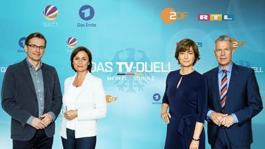 Wahlen Im Zdf - Bundestagswahl - Das Tv-duell - Merkel - Schulz