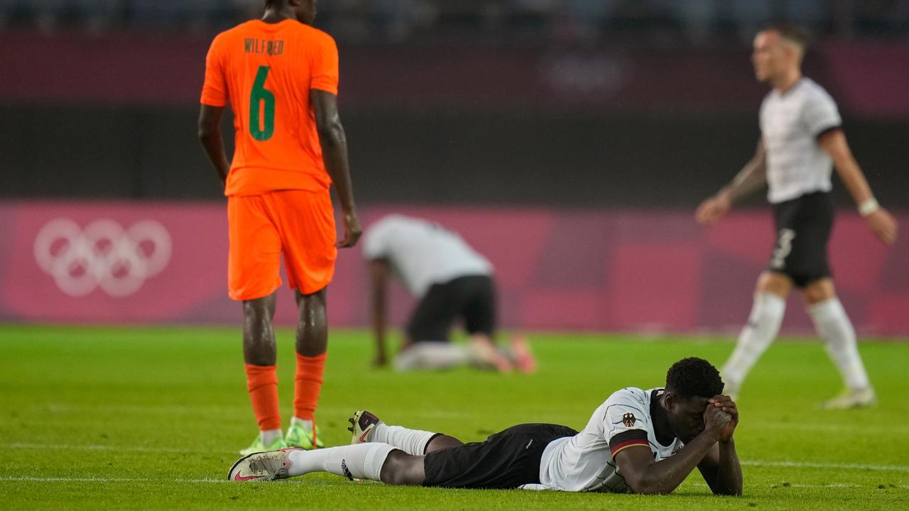 Deutschland - Elfenbeinküste 1:1 -Fussball | Olympia - Tokio 2020
