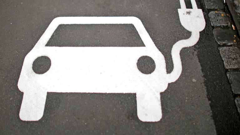 Parkbereich für ein E-Auto