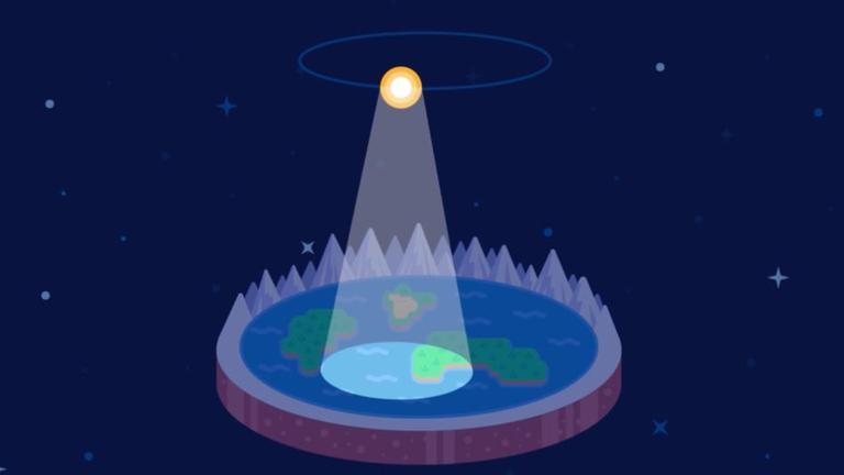 Bild. Flache Erde tag & Nacht Begründung