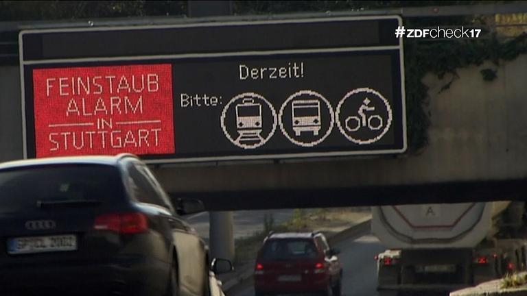 Autobahnanzeige