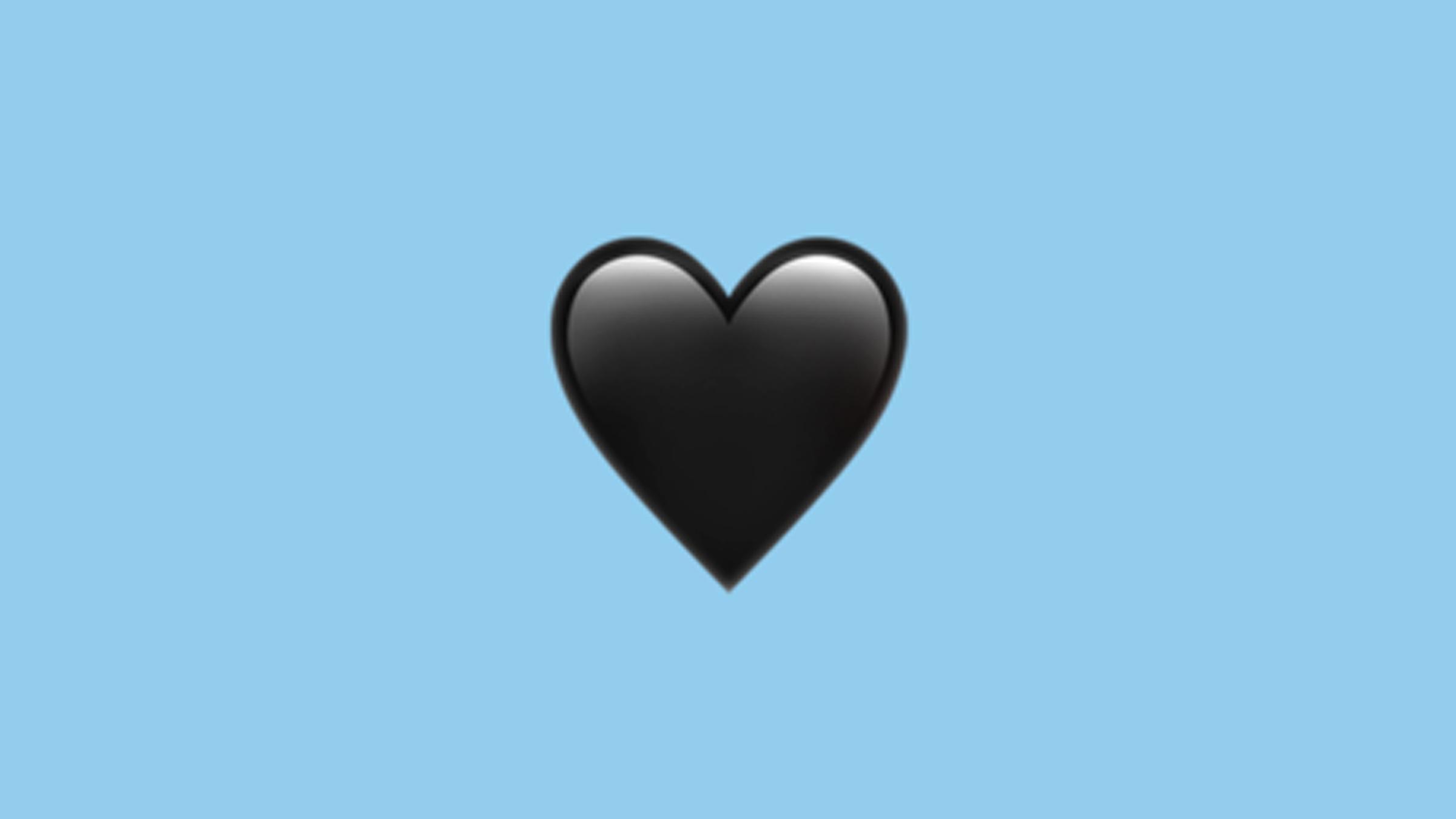 Schwarzes Herz Zum Kopieren - Ivisha Gerom