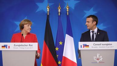 Angela Merkel und Emmanuel Macron auf dem EU-Gipfel in Brüssel