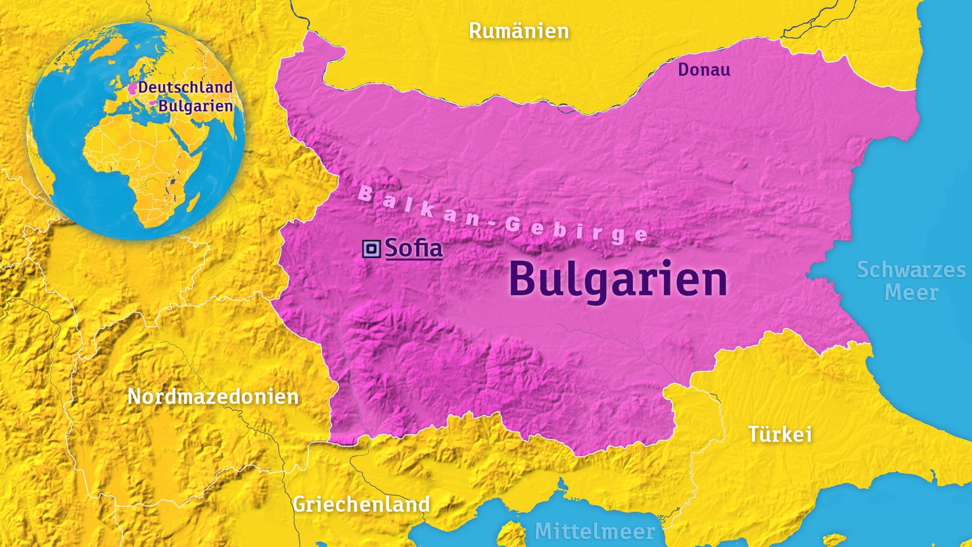 Karte Bulgarien.Logo Bulgarien Zdfmediathek