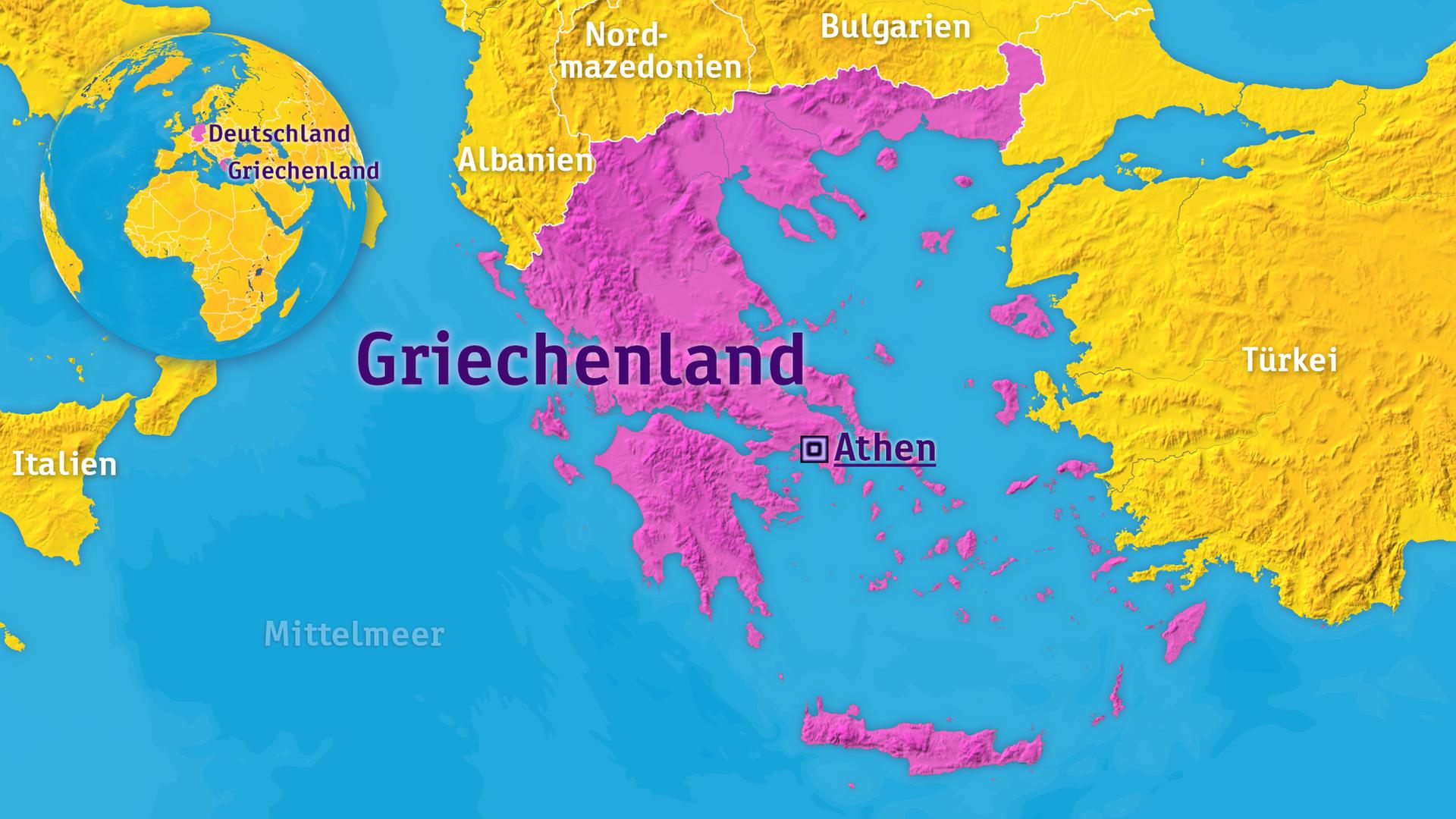 Mittelmeer Karte Inseln.Logo Griechenland Zdfmediathek