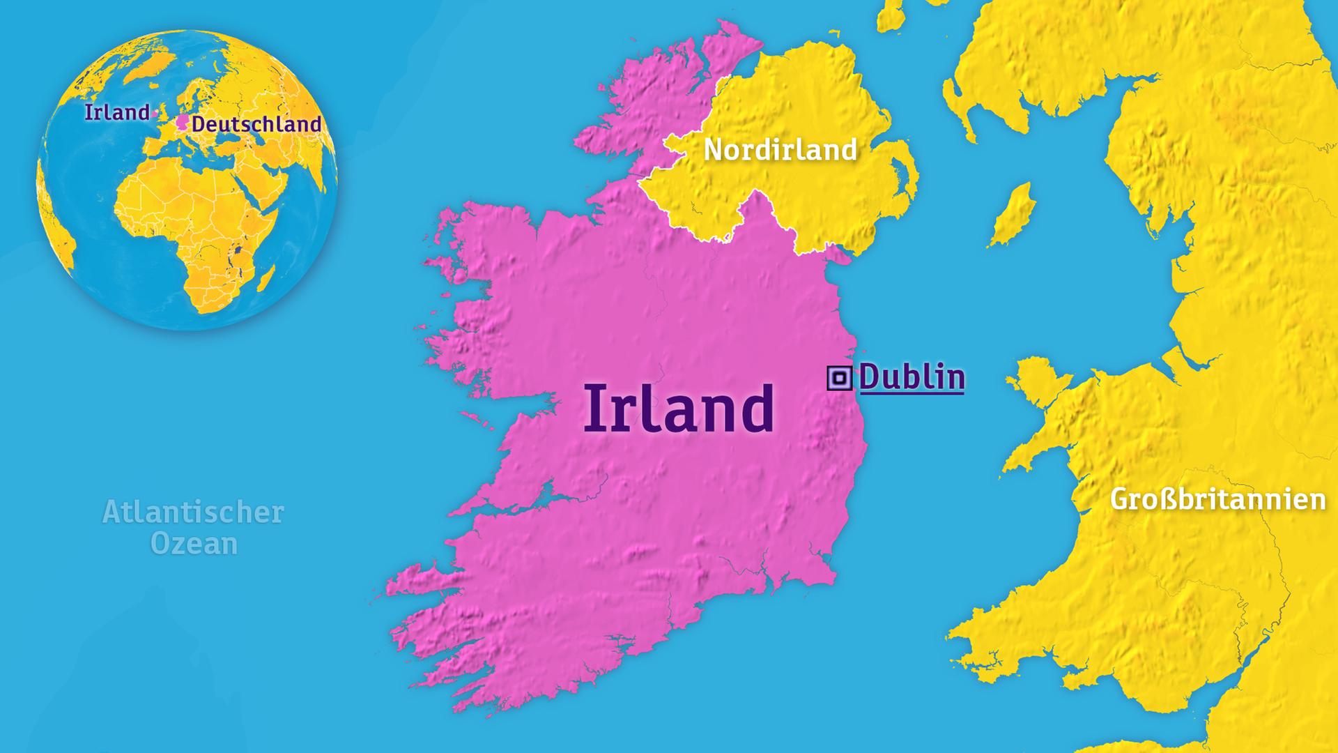 Irland Karte.Logo Irland Zdfmediathek