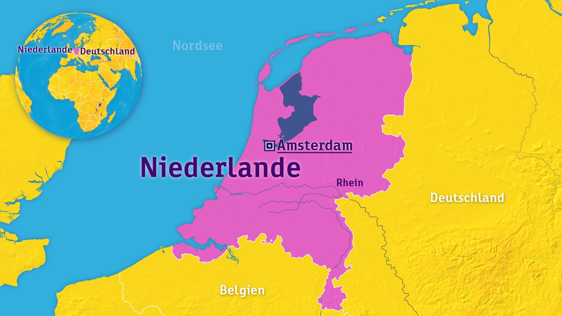 Karte Von Holland Und Belgien.Logo Niederlande Zdfmediathek