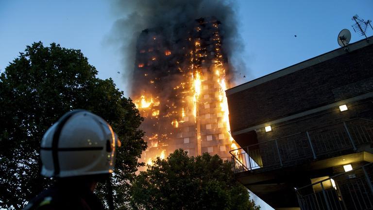 Hochhausbrand in London