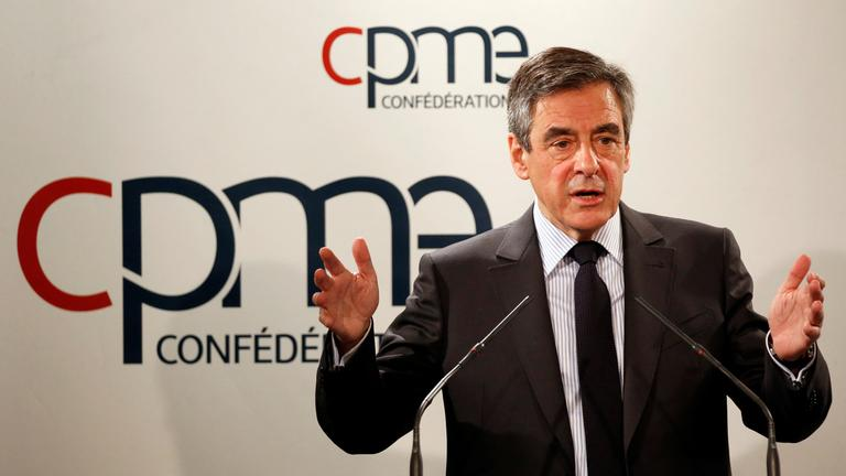 francois fillon, former french prime minister, member of the republicans political party and 2017 presidential election candidat