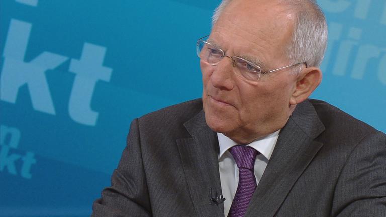 Bundesfinanzminister Wolfgang Schäuble (CDU) im Interview bei Berlin direkt
