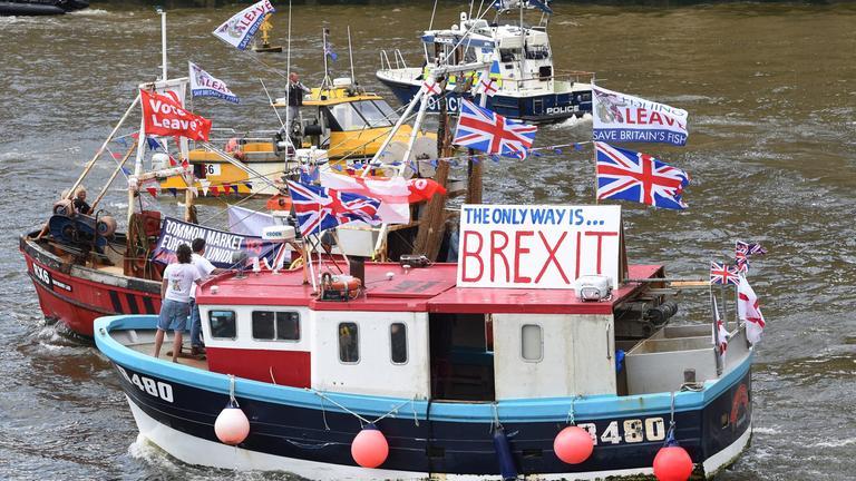 Fischer werben für den Brexit