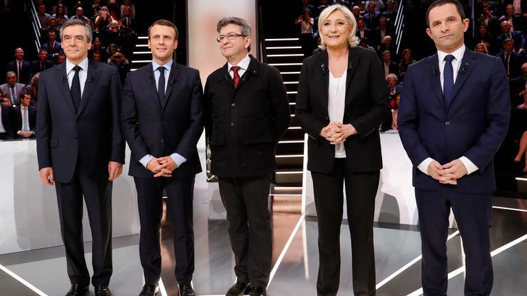 TV-Debatte um französisches Präsidentenamt.