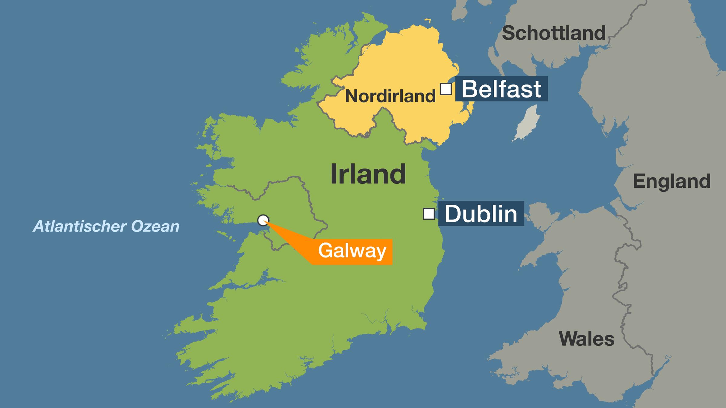 irland karte galway Kulturhauptstadt 2020: Irlands Galway: Wie Barcelona   nur mit