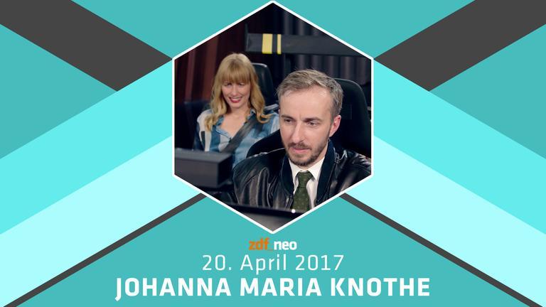 Das NEO MAGAZIN ROYALE am 20. April 2017 mit Jan Böhmermann und Johanna Maria Knothe