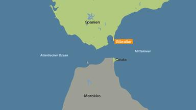 Meerenge Von Gibraltar Karte.Nahe Der Spanischen Kuste Marokkos Marine Rettet Migranten