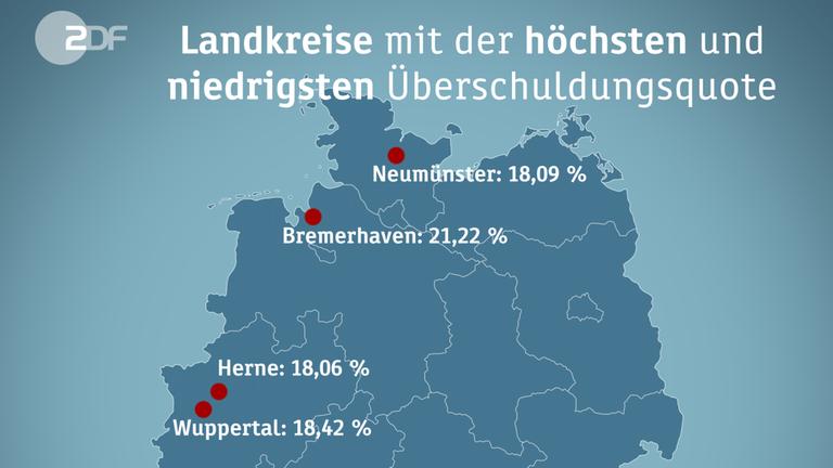 Wo die Deutschen überschuldet sind - und warum