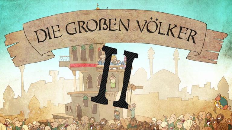 Große Völker Comic Animation