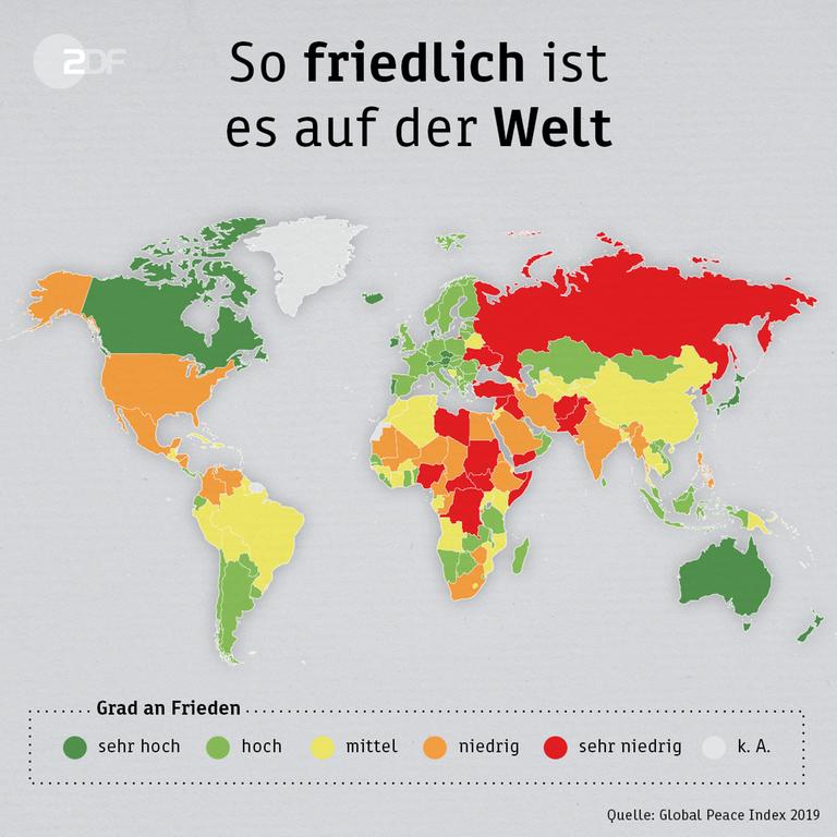 88fa393e82a862 Infografik: Global Peace Index - So friedlich ist es auf der Welt