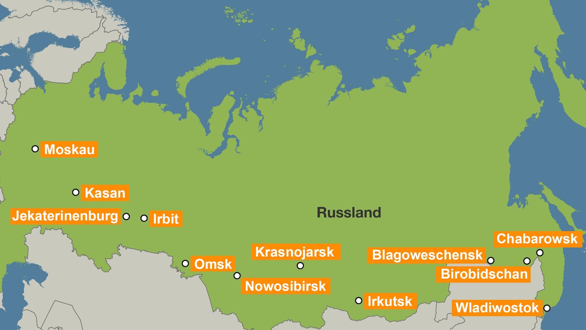 Infokarte Zur Dokumentation   Kilometer Russland
