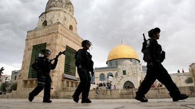 Israelische Polizei auf dem Tempelberg in Jerusalem