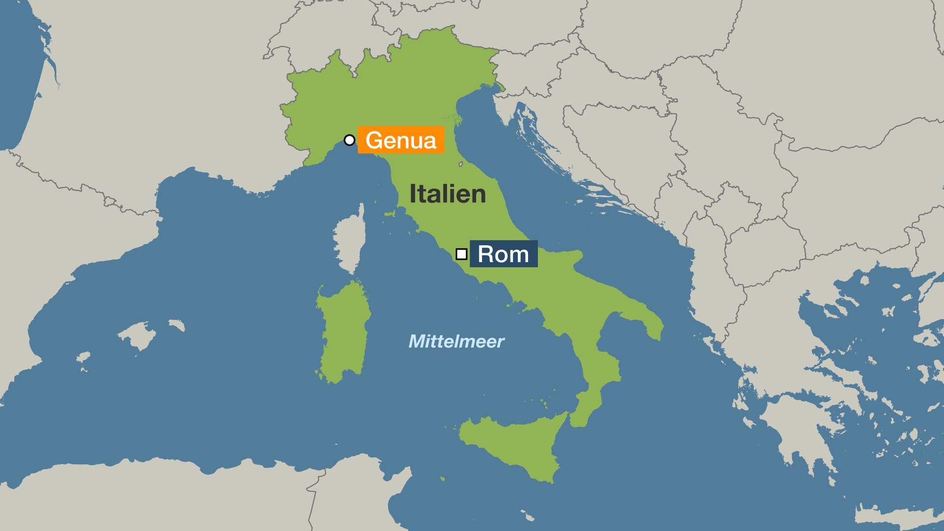 genua karte Italiens marode Infrastruktur